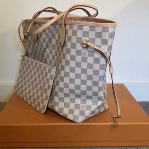 Louis vuitton neverfull mm damier azur R ballerine